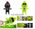 Cartoon Silicone Car Air Vent Phone Mount Holder for iPhone 7 plus Note 7 Car St 2