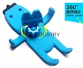 Cartoon Silicone Car Air Vent Phone Mount Holder for iPhone 7 plus Note 7 Car St 6