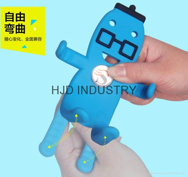 Cartoon Silicone Car Air Vent Phone Mount Holder for iPhone 7 plus Note 7 Car St 7