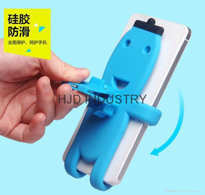 Cartoon Silicone Car Air Vent Phone Mount Holder for iPhone 7 plus Note 7 Car St 8