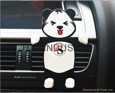 Cartoon Silicone Car Air Vent Phone Mount Holder 1