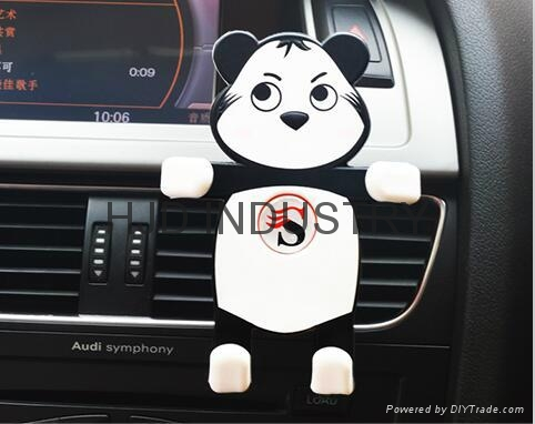 cartoon silicone car air vent phone mount holder china manufacturer car interior decoration. Black Bedroom Furniture Sets. Home Design Ideas