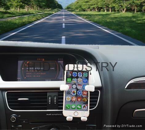 Cartoon Silicone Car Air Vent Phone Mount Holder 8