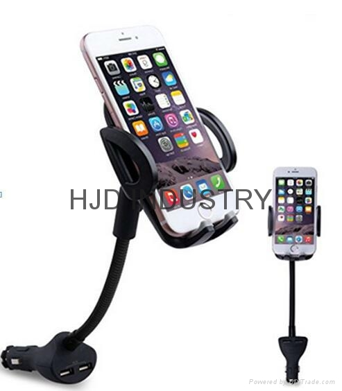 Smartphone holder with Dual USB charger