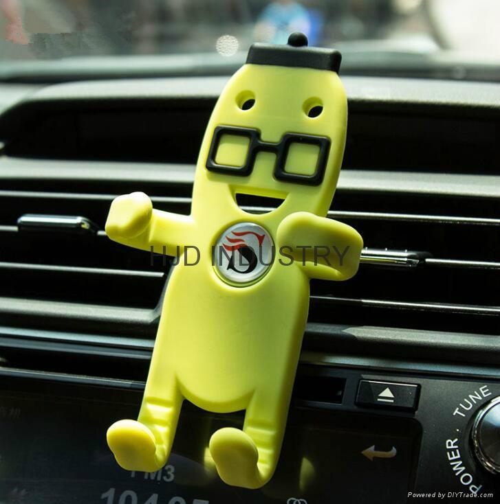 Promotional gifts cartoon silicone car mount holder 1