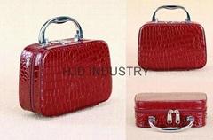 cosmetic bags, PU Cosmetic Case, Large Capacity Jewelry Storage Box Handbag