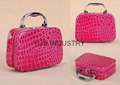 cosmetic bags, PU Cosmetic Case, Large Capacity Jewelry Storage Box Handbag