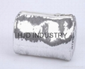 Shiny Silver PU cosmetic bag, various colours are available