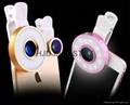 12 LED Selfie Fisheye Wide Angle Macro Mobile Phone Lens