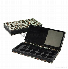 Cosmetic Leather Makeup Empty Eyeshadow Palette Case
