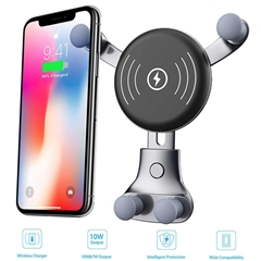 [2019 Newest] Wireless Car Charger - Air Vent Phone Holder