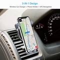 Wireless Car Charger - Air Vent Phone Holder,  10W Compatible for Phones