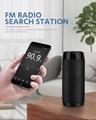 Mini Speaker with FM Radio Waterproof Subwoofer Wireless Loundpeakers