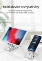 Portable adjustable aluminum alloy mount tablet bracket smart phone holder