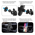 Car Air Vent Stand  Smart Phone Holder