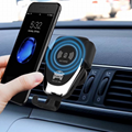 Universal 10W wireless charger  air vent magnetic smartphone holder