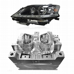 Auto light headlight mould Custom plastic injection mould