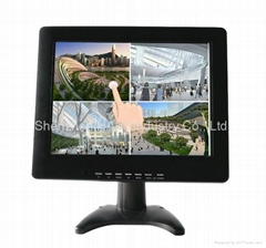 "12"" metal or plastic touch monitor for industry"