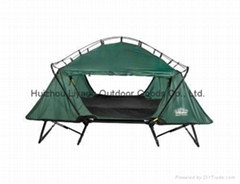 Green Tent Cot Outdoor Oversize Sleeping Hiking Compact Camping Folding Bed New