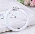 Hot Sale PU Bracelet Fashion Men And Women Woven Leather Bracelet Diamond Bead   2
