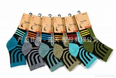 男士運動純棉襪中筒襪加厚冬季跑步襪