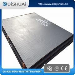 Bimetallic welding overlay chrome steel plate