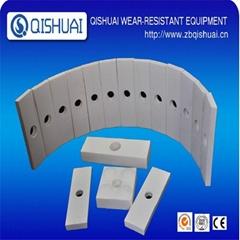 Wear resistant alumina ceramic lining sheet in china