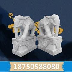 福建惠安花崗岩石雕大象招財納福支持定製