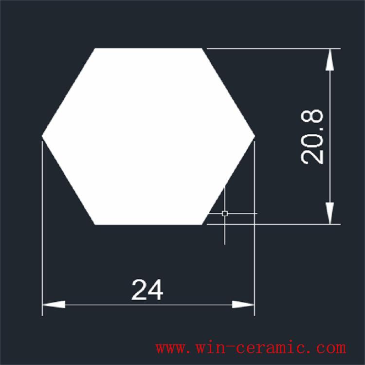 Chinese ceramic hexagon mosaic tiles 1