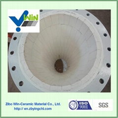 High Quality And Wear Resistant Alumina Ceramic Elbow Lining