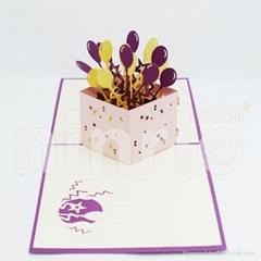Balloons box pop up card handmade greeting card