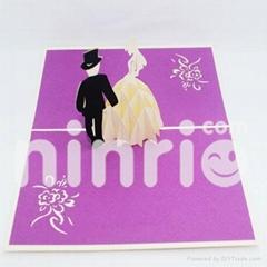Luxury wedding pop up card handmade greeting card