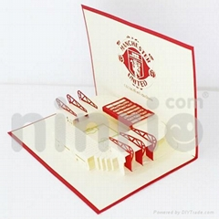 Manchester united pop up card handmade greeting card