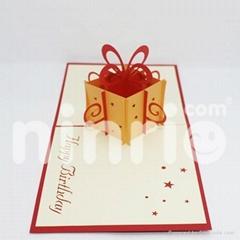 Gift box pop up card handmade greeting card