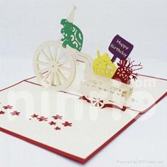 Turtle birthday pop up card handmade greeting card