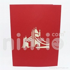 Tower bridge pop up card handmade greeting card