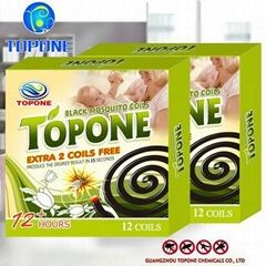 2016 Manufacturing 12 hour Topone smoke free mosquito coil for Africa