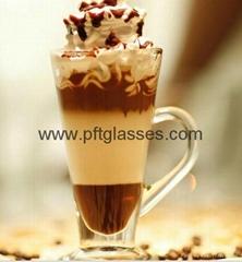 Strong double wall ice cream glass mugs