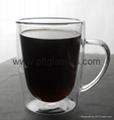 portable borosilicate double wall glass mugs 1