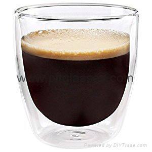 Insulated Eco-Friendly Double Wall Glass Coffee Mugs  1