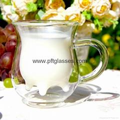 Nice Double Wall Glass milk Mug