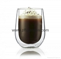 180ml Double Wall Glass Coffee Mugs