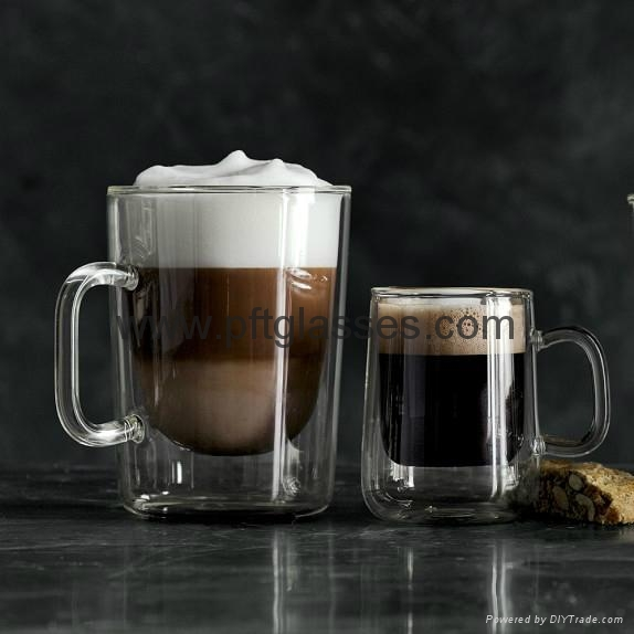 Double Wall Glass Coffee cups set 1