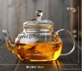 Wholesales hand blown single wall teapots with tea infuser  2