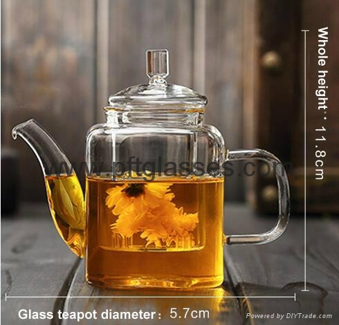 Highly Transparent Glass Tea Pots  5