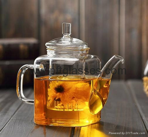 Highly Transparent Glass Tea Pots  1