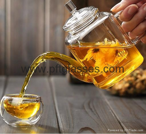 Highly Transparent Glass Tea Pots  2