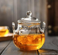 Wholesales Double Wall Glass Tea Pots Coffee Pots