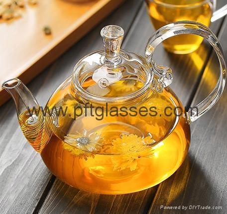 Heat Resistant Double Wall Borosilicate Glass Tea Pot Coffee Pot  2