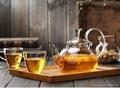 Heat Resistant Double Wall Borosilicate Glass Tea Pot Coffee Pot  4